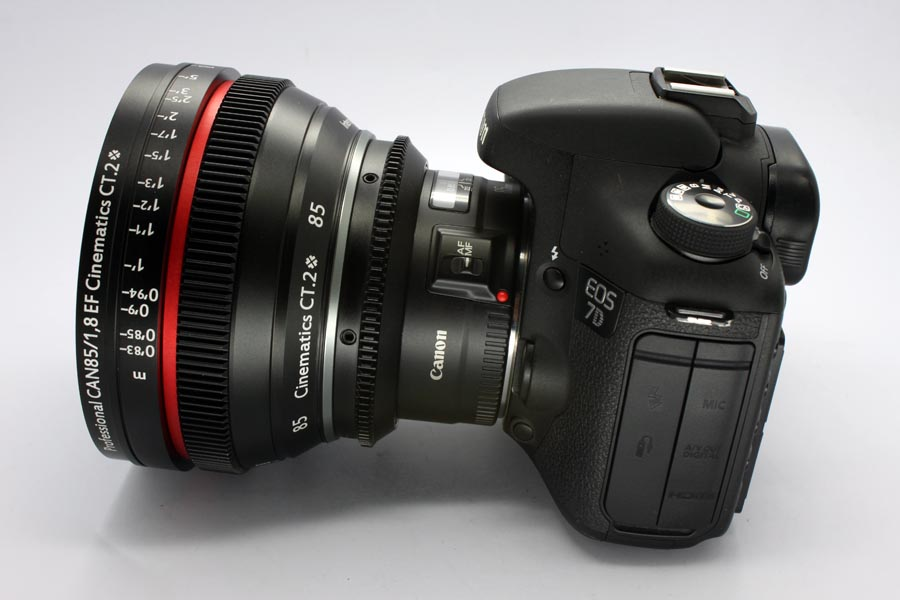 Cine lens Canon 85mm/f1.8 I